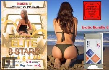 Redlight Elite Stars Bundle 8 Sender Smartkarte + Viaccess Ci Modul  Laufzeit: 1 Jahr