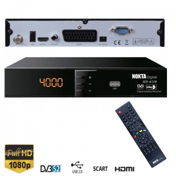 Nokta Digital HDTV-6110 FTA Sat-Receiver USB HDMI Scart Full HD
