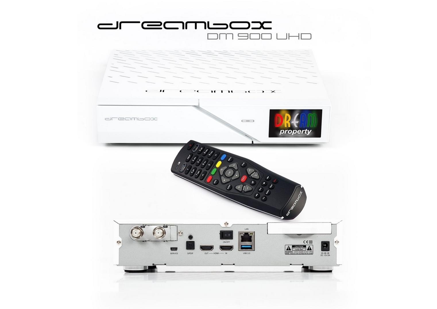 GT-DreamShop - DreamBox 900 UHD 4K E2 Linux 1x DVB-S2 FBC